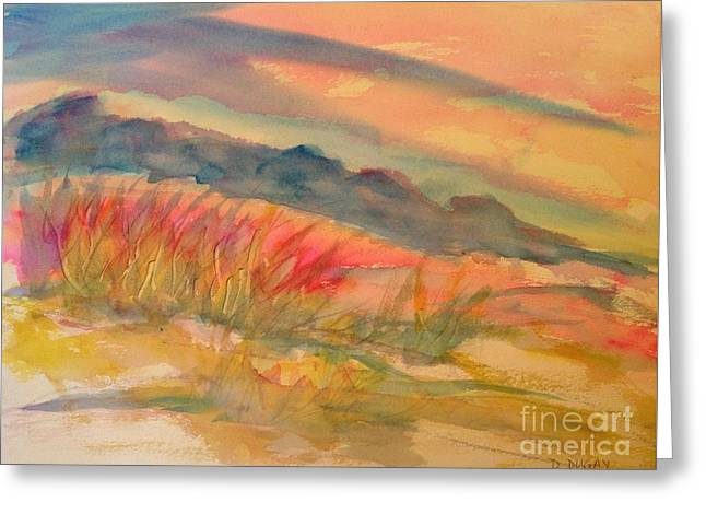 Desert Dreams Greeting Card by Dona Dugay