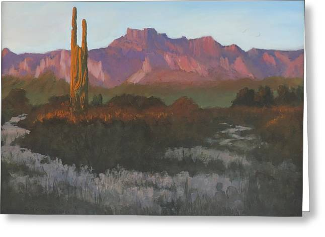 Desert Sunset Glow - Art By Bill Tomsa Greeting Card