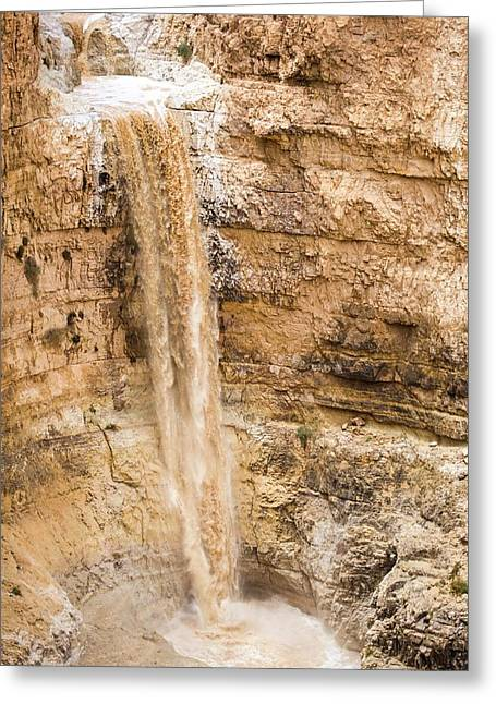 Desert Flash Flood Greeting Card by Photostock-israel