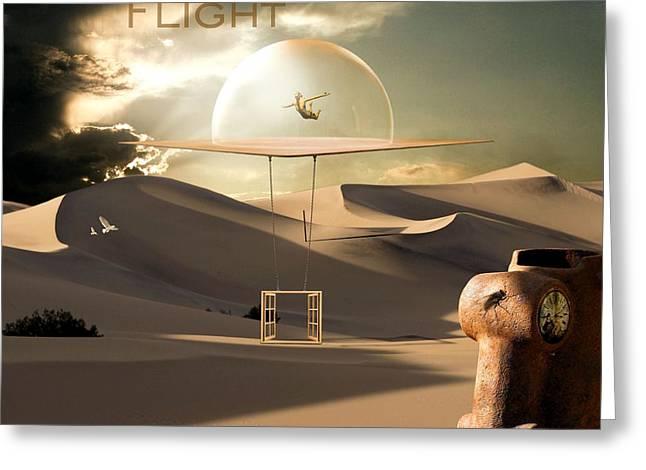 Desert Flight Greeting Card by Franziskus Pfleghart