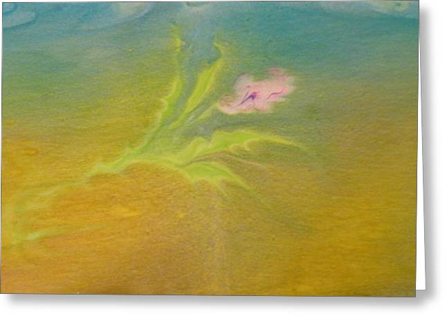 Greeting Card featuring the painting Desert Flower by Mike Breau