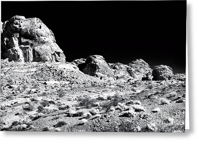 Desert Formation Greeting Card by John Rizzuto