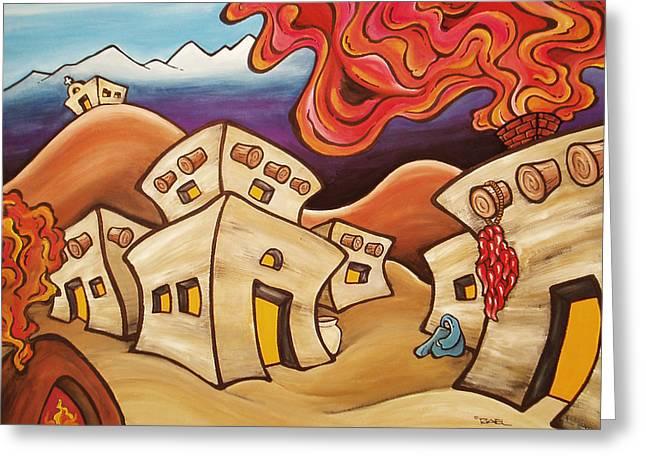 Desert Hearth Greeting Card by Robb Rael