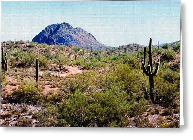 Desert Hills Greeting Card by Gordon Beck