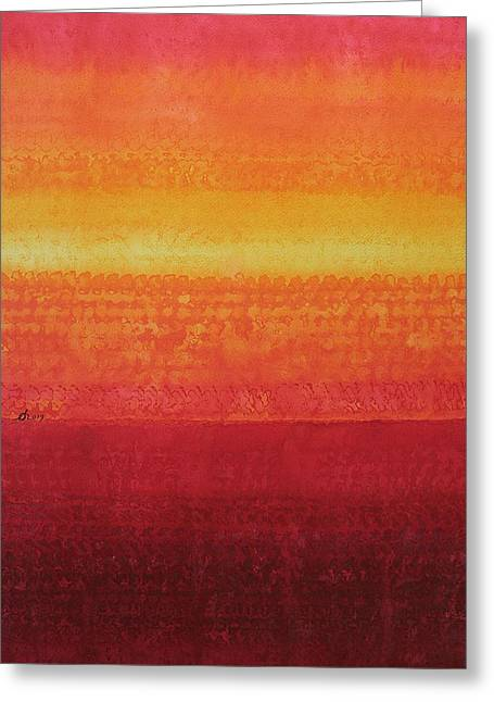Desert Horizon Original Painting Greeting Card by Sol Luckman