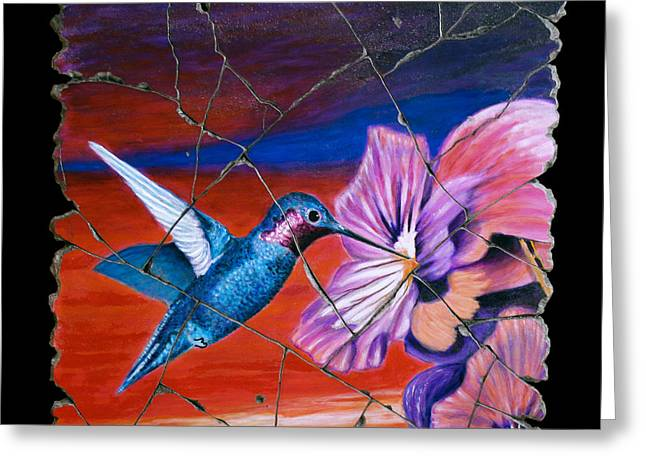 Desert Hummingbird Greeting Card by Steve Bogdanoff