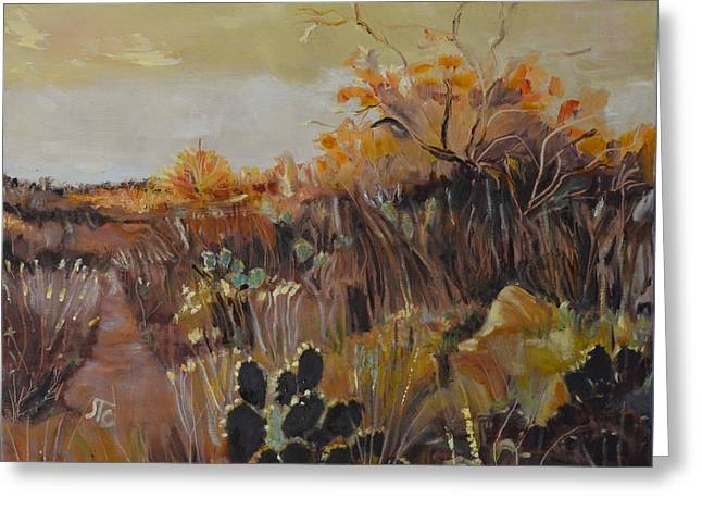 Desert Landscape Greeting Card by Julie Todd-Cundiff