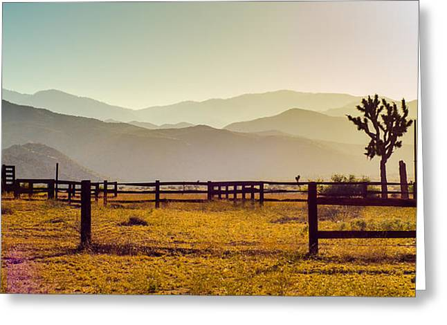 Desert Landscape Pano Greeting Card by Alex Snay
