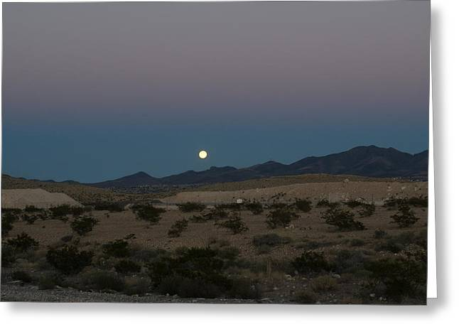 Desert Moon-1 Greeting Card