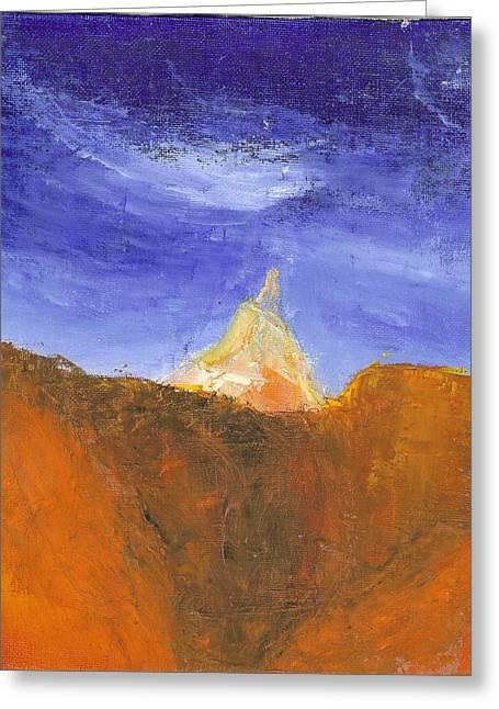 Desert Mountain Canyon Greeting Card