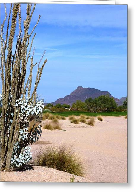 Greeting Card featuring the photograph Desert Mountain by Mike Ste Marie