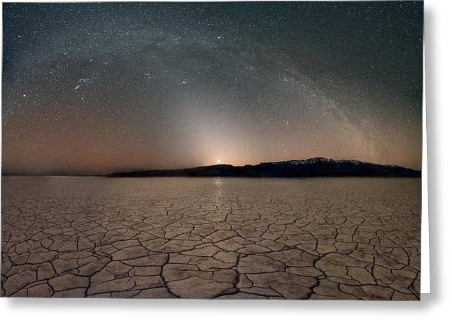 Desert Night Greeting Card by Leland D Howard