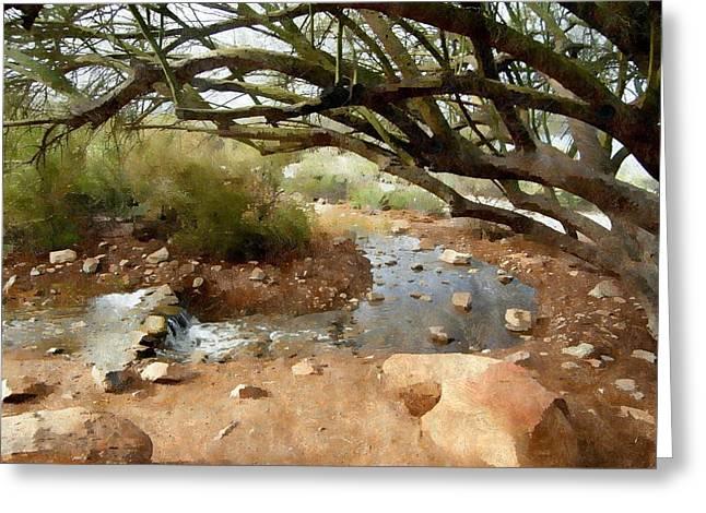Desert Oasis Greeting Card by Karyn Robinson