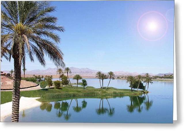 Desert Oasis Greeting Card