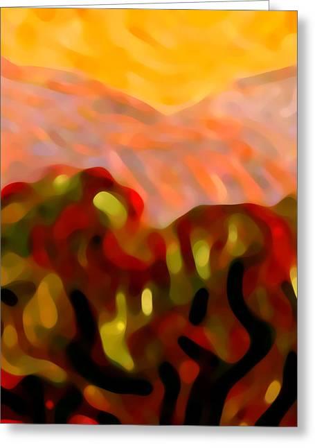 Desert Olive Trees Greeting Card by Amy Vangsgard