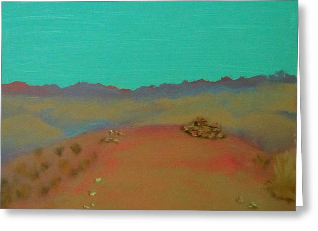 Greeting Card featuring the painting Desert Overlook by Keith Thue