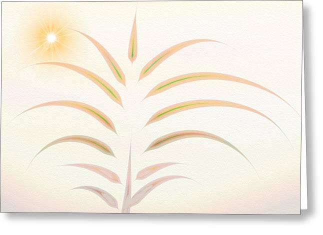 Desert Palm - Digital Abstract Greeting Card