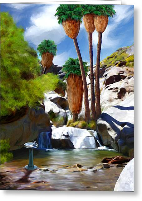 Desert Paradise Greeting Card by Snake Jagger