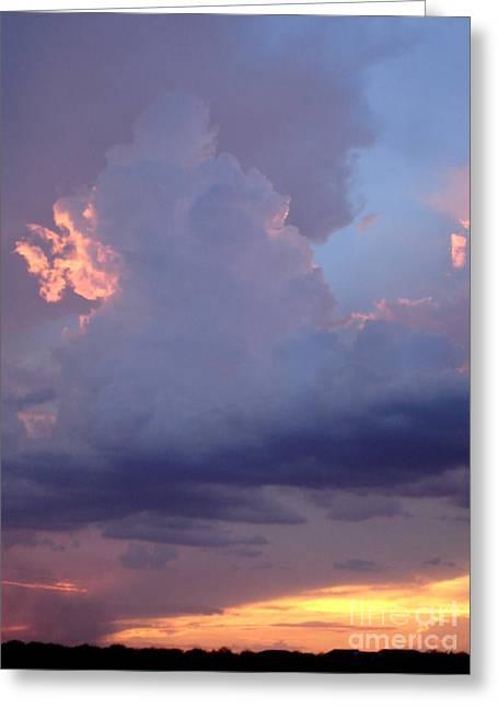 Desert Rainstorm 5 Greeting Card by Kerri Mortenson