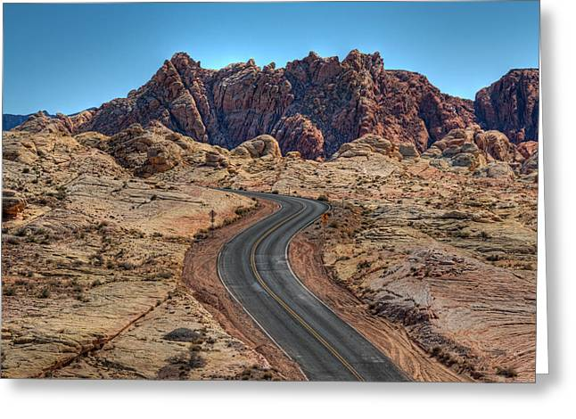 Desert Road Greeting Card