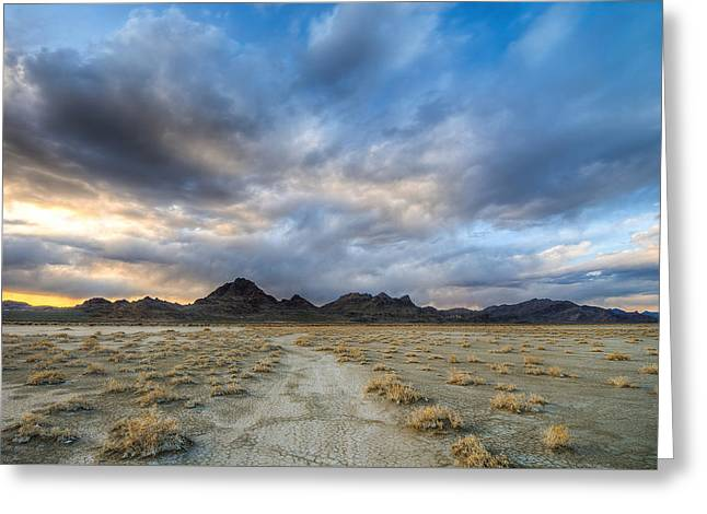 Greeting Card featuring the photograph Desert Road by Dustin  LeFevre