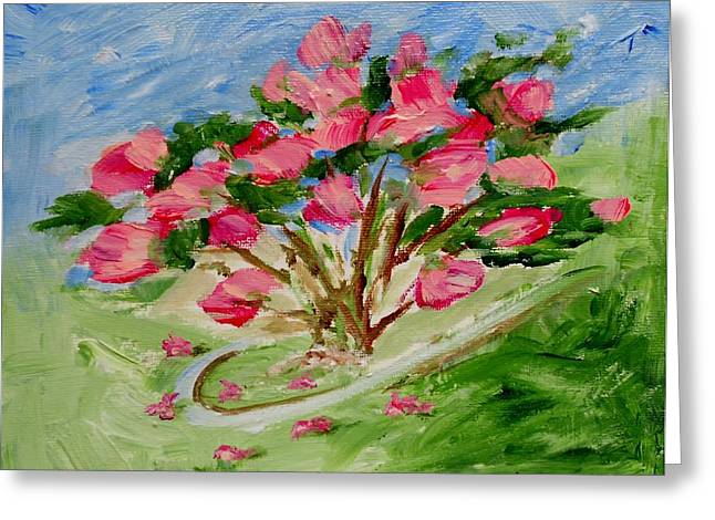 Desert Rose Abstract Greeting Card