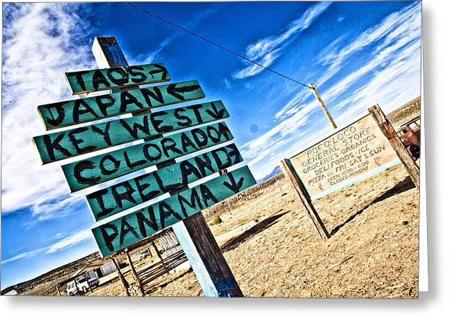 Desert Signs Greeting Card by Shanna Gillette