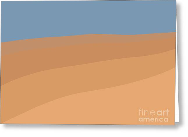 Desert Sky Greeting Card by Henry Manning