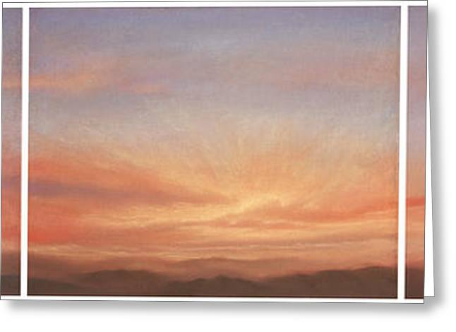 Desert Sky Triptych Greeting Card