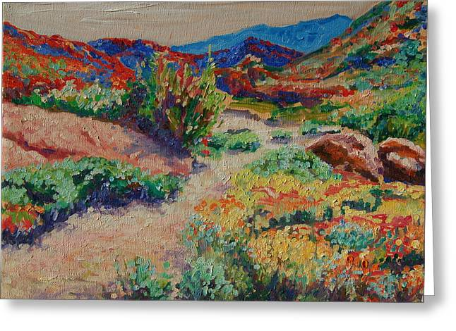Desert Spring Flowers Namaqualand Greeting Card