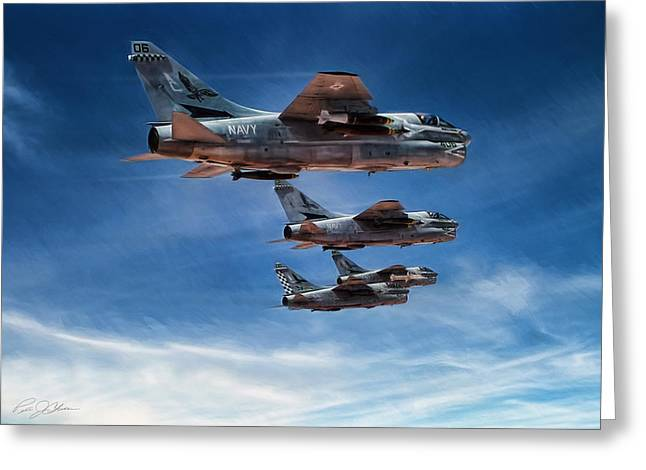 Desert Storm Blue Hawks Greeting Card