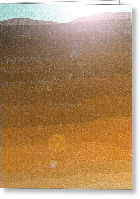 Desert Sun Greeting Card by Lenore Senior