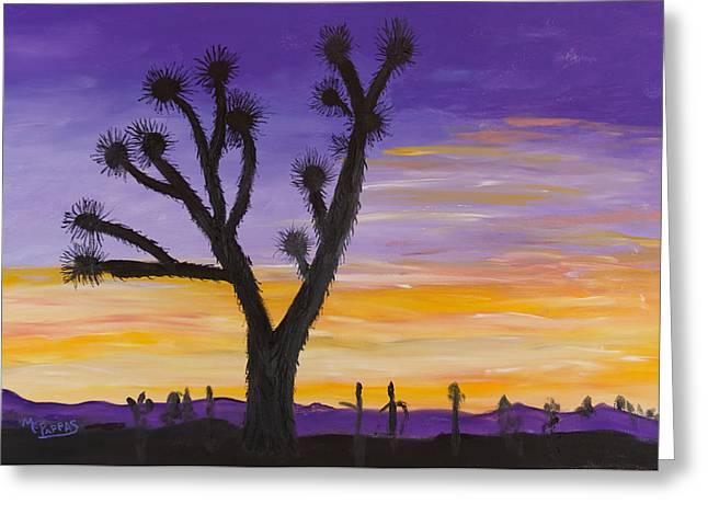 Desert Sunset Greeting Card by Margaret Pappas