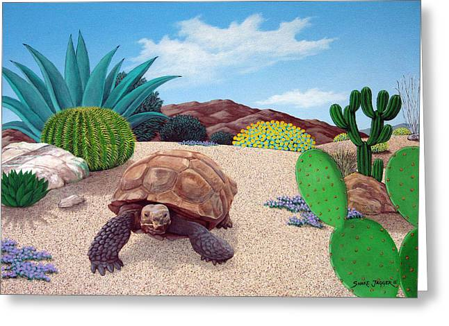 Desert Tortoise Greeting Card by Snake Jagger