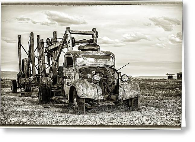 Desert Truck Greeting Card by Dave Cleaveland