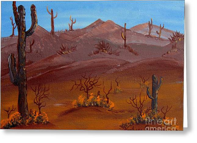 Desert View Greeting Card by Barbara Griffin
