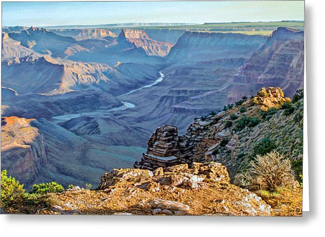 Desert View-morning Greeting Card by Paul Krapf