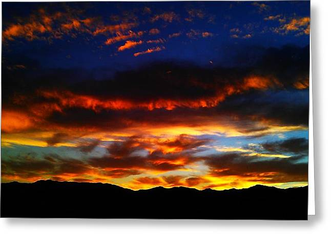 Desert Winter Sunset  Greeting Card
