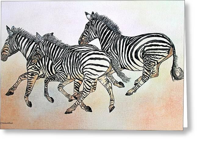 Desert Zebras Greeting Card