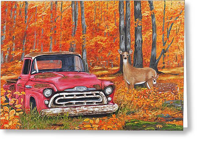 Deserted - '57 Chevy Pickup Greeting Card by Jim Ziemer