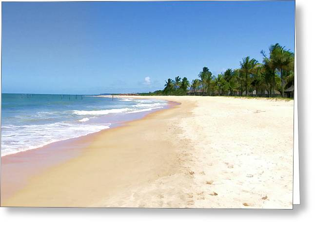 Deserted Beach Greeting Card by Elaine Plesser