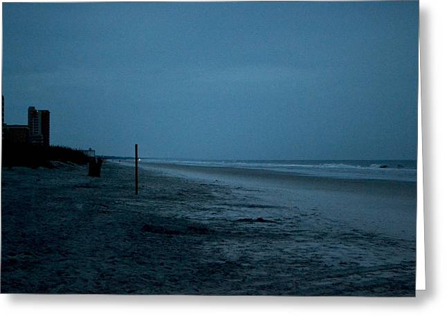 Deserted Beach Greeting Card by Victoria Clark