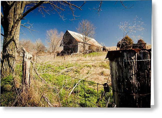 Deserted Farm Greeting Card by Karen Varnas