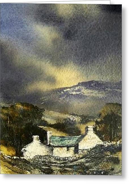 Deserted Farm West Cork Greeting Card by Roland Byrne