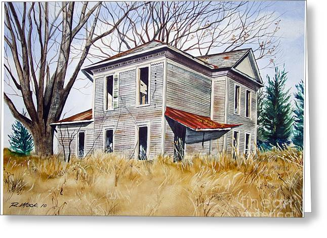 Deserted House  Greeting Card by Rick Mock