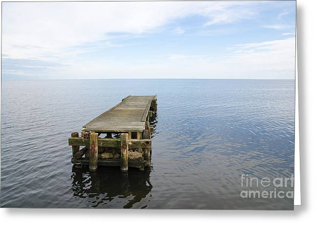 Deserted Jetty Greeting Card