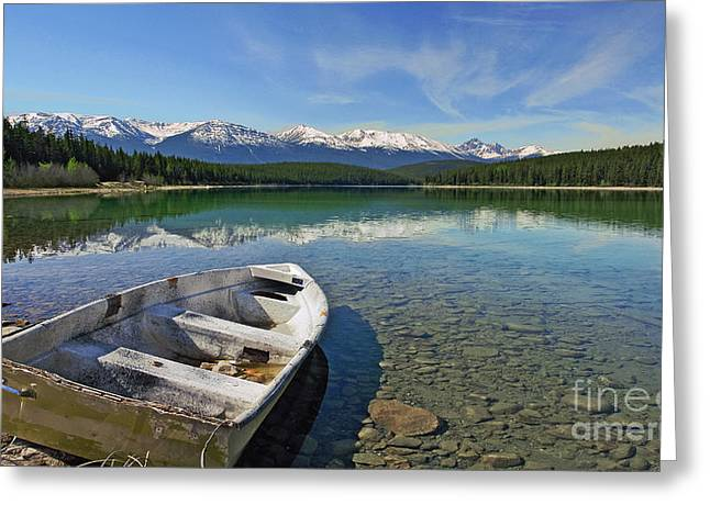 Deserted Rowboat Greeting Card by Frank Wicker