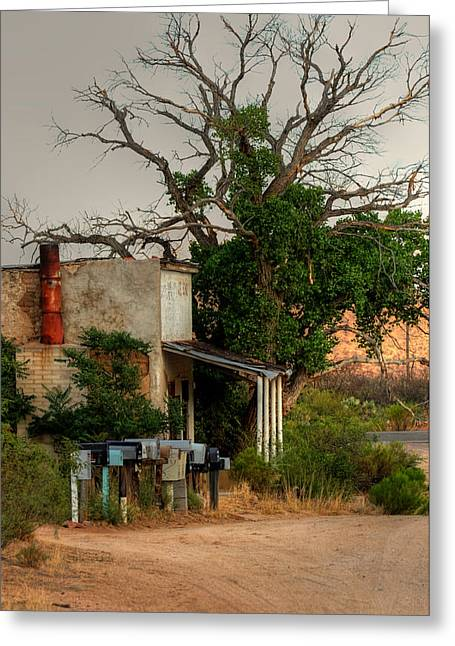 Deserted Store In The Desert... Greeting Card by Joanne Beebe