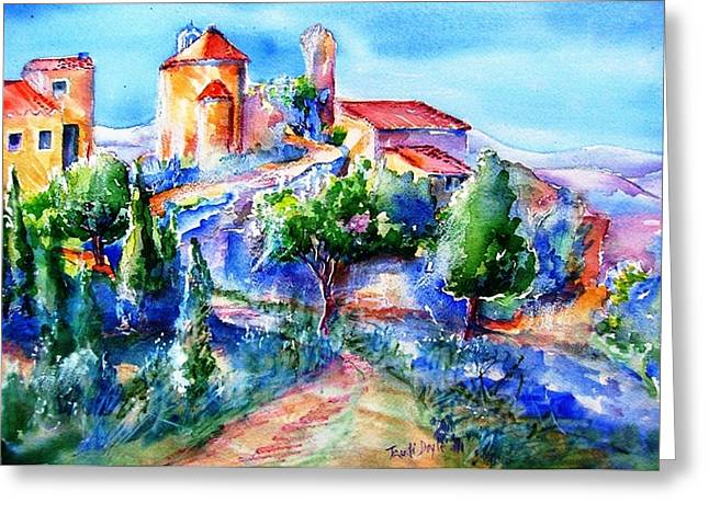 Deserted Village Of Perillos  Greeting Card by Trudi Doyle