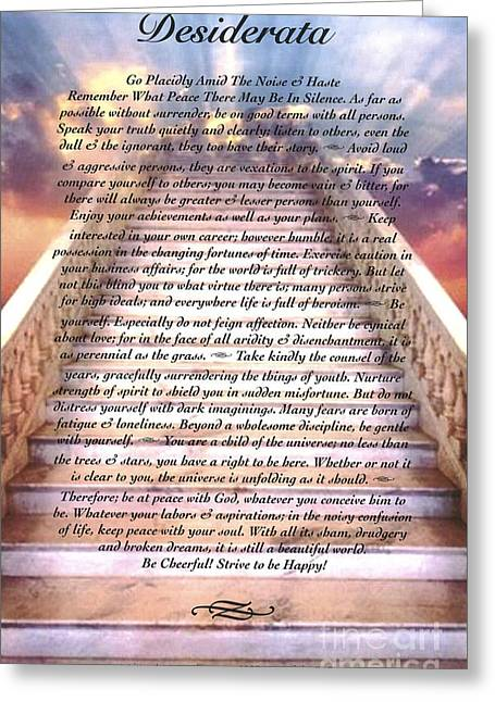 desiderata on the stairway to heaven mixed media by desiderata gallery. Black Bedroom Furniture Sets. Home Design Ideas